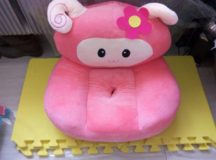 木颐竹 卡通沙发榻榻米大人座椅毛绒玩具懒人换鞋凳超大号宝宝礼物可拆洗 坐版大象 60*60厘米超大款 晒单图