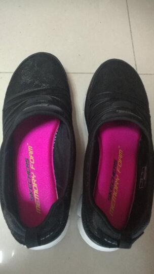 Skechers斯凯奇女鞋时尚运动鞋女 缓震女休闲鞋 轻便一脚套11962 黑色/白色/BKW 36 晒单图