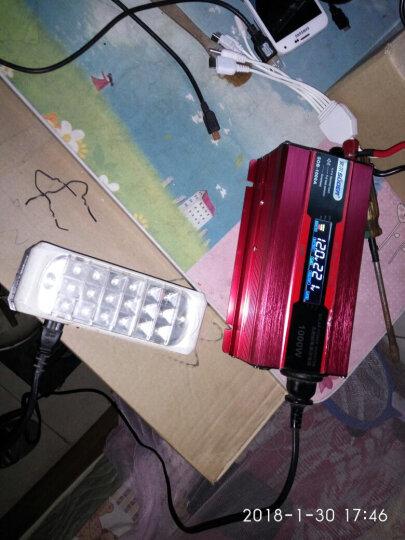 索尔STA-1000W 12V转220V 逆变器 静音风扇智能温控 带电量大功率显示功能 升级版SDB1000W/12V送鱼尾夹点烟器(红) 晒单图