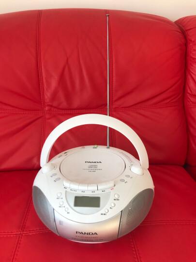 熊猫(PANDA) CD-350收录机 CD机胎教 DVD复读机 录音机 磁带U盘播放机 音响(红色) 晒单图