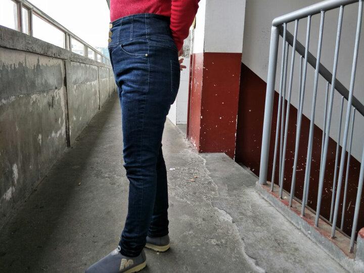 品彩羽绒裤女外穿高腰休闲小脚裤加白鸭绒长裤加厚内胆牛仔裤修身显瘦时尚保暖裤子 牛仔蓝色 3XL/31【适合140-150斤】 晒单图