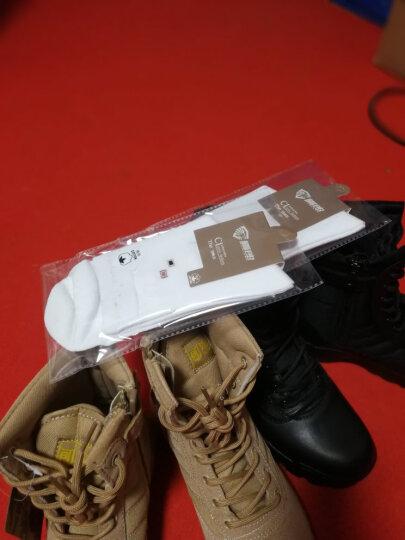 山猫 作战靴男特种军靴战靴 透气春秋季高帮女战术陆战靴 沙漠靴耐磨防滑军迷登山靴子 加绒靴黑色 43码 晒单图