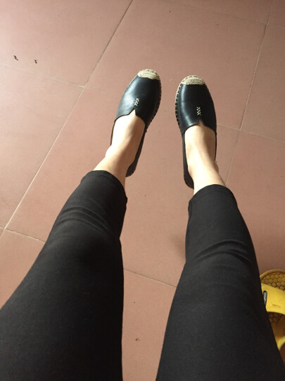 Tata/他她休闲鞋女夏季渔夫鞋子学生单鞋女一脚蹬懒人鞋平底女鞋2FY35AQ7 粉色 39 晒单图