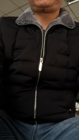 花花公子贵宾中年精品高端男士羽绒服修身中长款2017冬季新款韩版加厚白鸭绒 90%白鸭绒 黑色 XL 晒单图