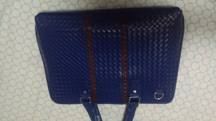 SVVTSSCFAP公文包手提包单肩斜挎多功能笔记本电脑包15.6英寸男女商务包 宝蓝色 晒单图