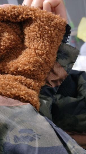 棉服女中长款加厚加大连帽棉衣长款棉袄女 蓝灰迷彩 M100-120斤 晒单图