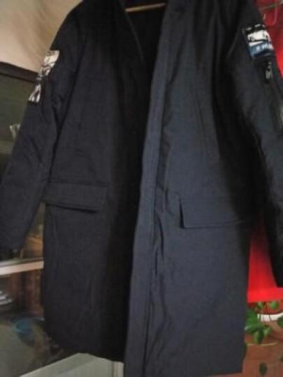 雅鹿羽绒服男中长款2018冬季新款好货等同波斯登连帽大毛领加厚修身冬季保暖外套男 灰色 M 晒单图