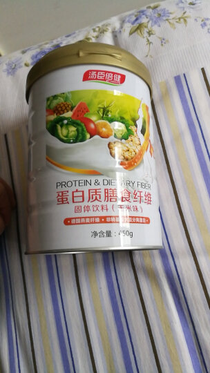 汤臣倍健Yep系列 蛋白粉蛋白质膳食纤维奶昔固体饮料(玉米味)450g/罐 营养饱腹代餐粉 晒单图