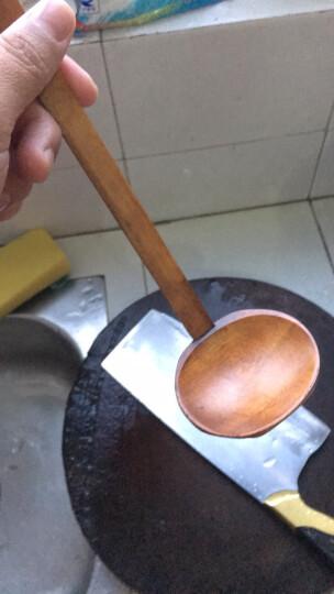 冠竹 日式长柄汤勺实木龟甲火锅勺子 拉面大汤勺 龟甲漏勺B 晒单图