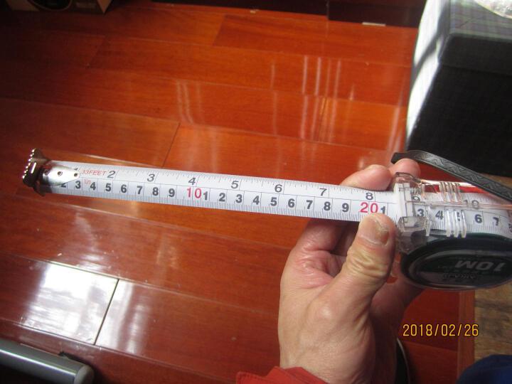 艾瑞泽 不锈钢卷尺 防摔卷尺  盒尺 2米3米5米7.5米10米 透明鲁班尺7.5m*25mm货号1507 晒单图