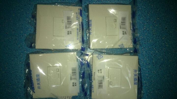 松下(panasonic)电脑插座墙壁开关插座86型简尚网络信息宽带插座面板WMW411 晒单图