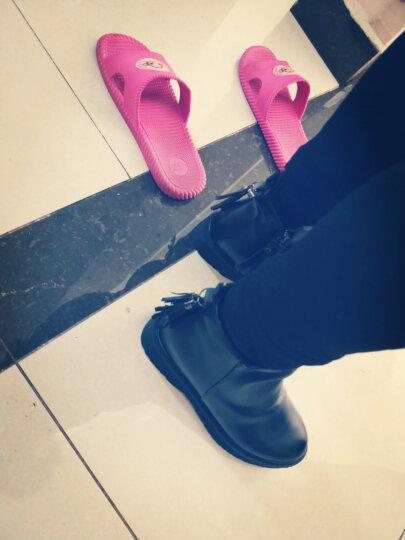 跨洋短靴女2017新款坡跟磨砂秋冬粗跟女靴尖头高跟马丁靴女高跟踝靴短筒骑士靴鞋 908军绿色 36 晒单图