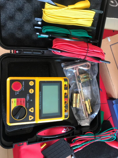 希玛 接地电阻测试仪摇表数字防雷测试高精测量仪 AR4105B量程 0.01-2000欧姆 晒单图