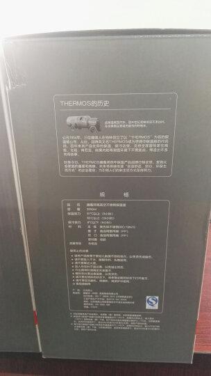 THERMOS膳魔师 2000ml高真空不锈钢大容量户外运动旅行保冷保温壶THS-2000(SBK) 晒单图