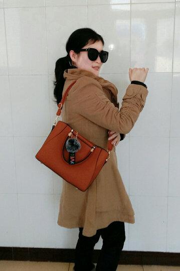 女包2019新款潮斜跨包包女OL通勤定型时尚女士包斜挎单肩手提包 橙色 晒单图