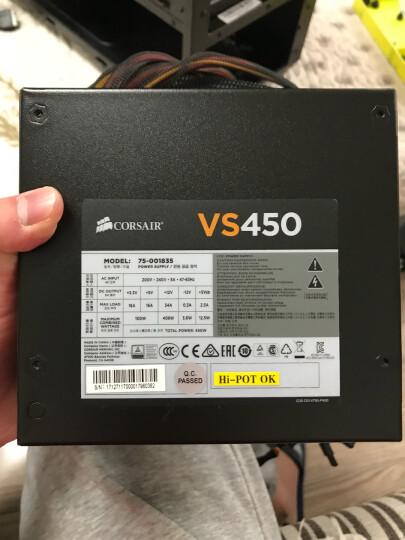 美商海盗船(USCorsair)额定450W  VS450 电源(80PLUS认证/12cm风扇/转换效率85%/主动PFC/三年质保) 晒单图