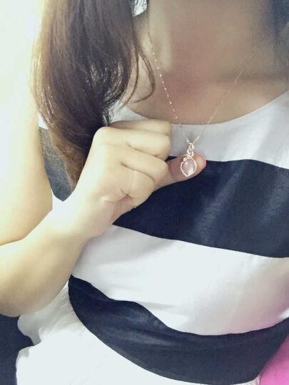 类似爱情 925银项链女款天然粉水晶吊坠女士紫水晶饰品芙蓉石首饰锁骨链表白生日礼物 天然紫晶 晒单图