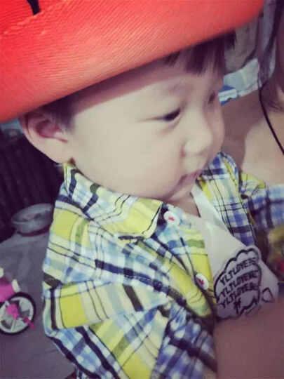 春夏儿童草帽秋男女宝宝帽子婴儿帽子韩国韩版遮阳套头帽棉帽 小熊草帽粉色 晒单图