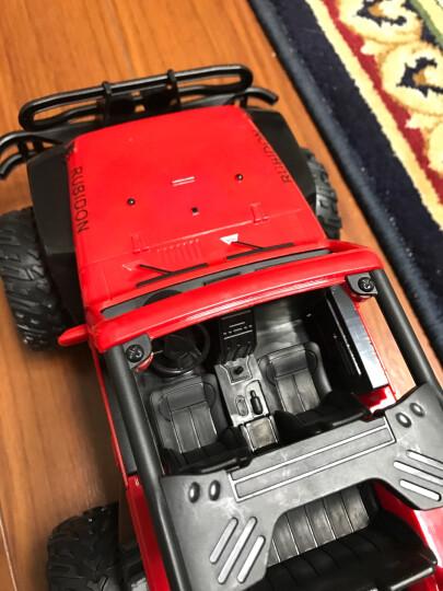 儿童早教多功能电动车四驱动越野带摇摆可遥控双人座汽车可坐人男女小孩宝宝玩具童车 30CM可开门充电遥控越野玩具车 晒单图