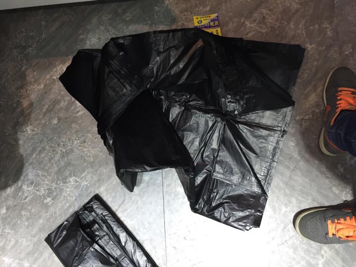 斯珂林(sikelin) 斯珂琳 大号垃圾袋黑色一次性垃圾袋物业酒店加厚工业型特大号纸篓袋酒店垃圾桶 长40宽45*1卷20只包邮 晒单图
