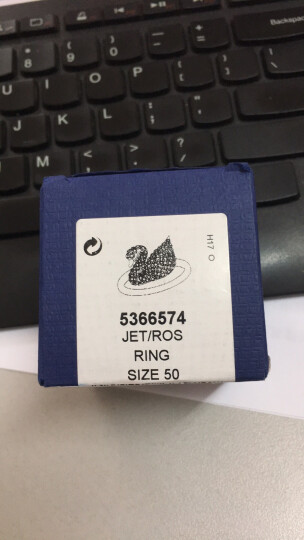 SWAROVSKI 施华洛世奇 Iconic Swan黑女款黑天鹅戒指 女友礼物5366574 晒单图