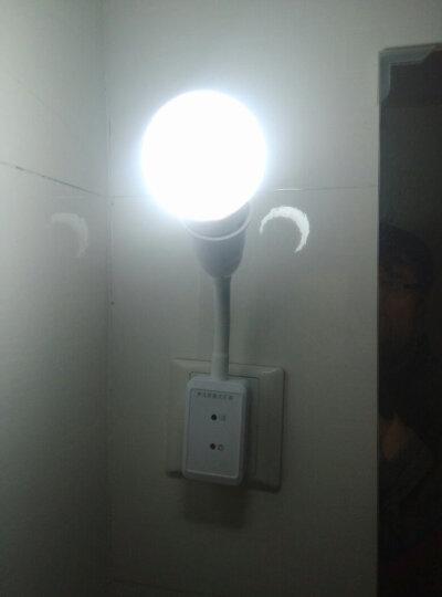 爱耐特智能声光控感应灯开关灯座可长亮E27螺口灯头声控led灯家用卧室过道楼道楼梯灯小夜灯喂奶灯 两插灯座+1W暖光 晒单图