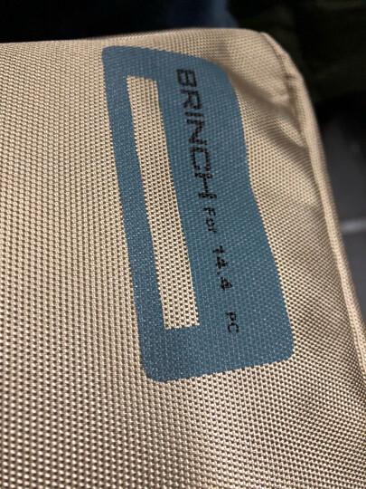 英制(BRINCH) 电脑包 14.1-14.4英寸通用款日韩风单肩/手提电脑专用包BW-127卡其色 晒单图