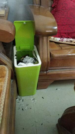 乾越(QIANYUE) 【全店3件8.8折】垃圾桶家用欧式有盖长方形垃圾桶大号卫生间纸篓 大号绿色 晒单图