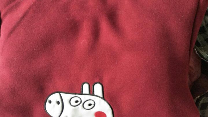 儿童秋冬男童外套毛呢大衣上衣潮童加厚中款风衣韩版女小童宝宝呢子夹棉加厚 酒红夹棉加厚 120码建议身高115cm左右 晒单图
