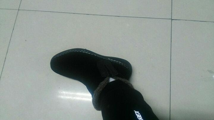 雪地靴男短靴马丁靴冬季加绒保暖 棕色-加绒 40 晒单图