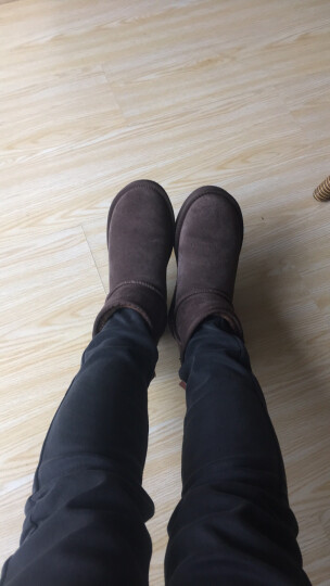 Teenmix/天美意冬牛剖层皮雪地靴女休闲靴(仿毛里)58502DD7 棕色仿毛里 38 晒单图