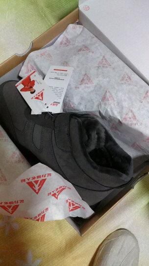 足力健老人棉鞋冬季保暖男鞋羊毛靴加绒爸爸中老年健步高帮鞋 灰色(男款) 41 晒单图