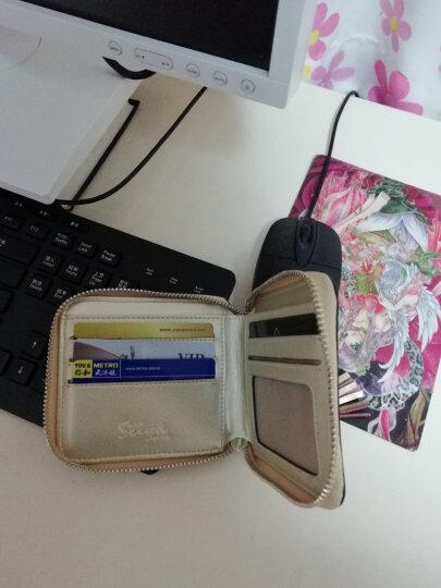斯提亚/STIYA 情侣钱包女式 新款晚宴手拿包钥匙包短款女士钱包牛皮钱夹女款卡包小零钱包85S1131007金色 晒单图