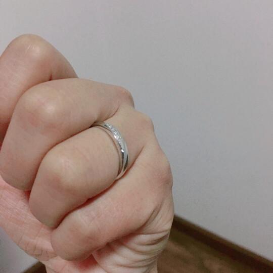沉鱼落雁S925纯银情侣戒指一对男女款八心八箭仿钻韩版学生结婚开口对戒潮人戒子个性指环刻字银饰品 活口一对+玫瑰礼盒-商家配送(可刻字) 晒单图