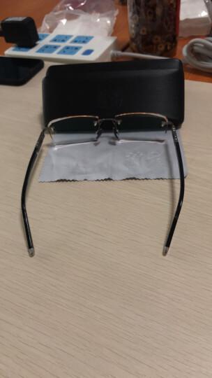兰福超轻成品近视眼镜架 商务眼镜框男士 无框眼镜 钻石切边眼镜潮 镜框+1.61MR-8渐进色镜片 晒单图