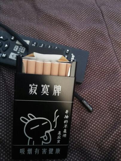 香烟烟盒20支装 寂寞牌男女个性收纳防潮烟盒 自动滑盖金属烟盒 烟具 创意礼品礼物 黑色 晒单图