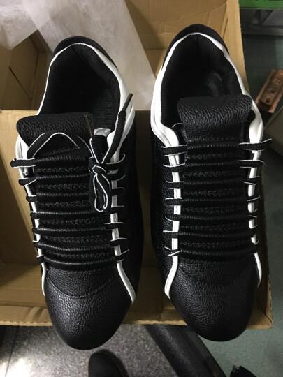领跑晟泽男鞋韩版休闲鞋网鞋男子男男板鞋春季新款男士皮鞋潮流 白色LX25 42 晒单图