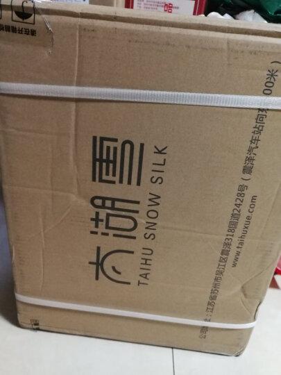 太湖雪纯蚕丝被100桑蚕长丝被芯 春秋被 全手工冬被 国标优等品 子母被(桑蚕丝净重1+3斤) 220*240cm-白色 晒单图