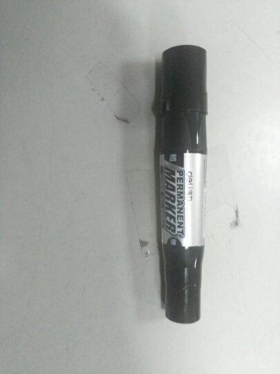 得力(deli)黑色物流专用双头油性记号笔大头笔 10支/盒6893 晒单图