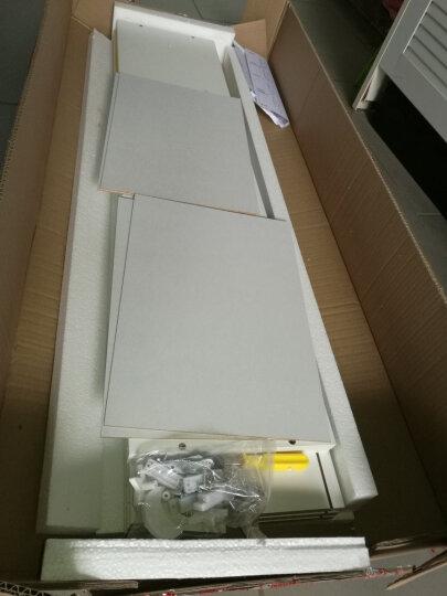 家乐铭品 储物柜彩色三层带门书柜储物柜收纳柜彩色+暖白色A399 晒单图