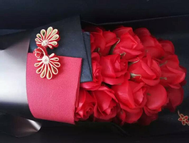 米兹MIEZ 香皂玫瑰花束礼盒装21朵仿真鲜花红色 七夕情人节 生日礼物送女友 晒单图