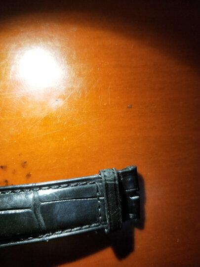 鳄鱼皮手表带男适用于欧米茄劳力士万国积家卡地亚江诗丹顿百达翡丽真皮双按自动蝴蝶扣 棕色-无扣 19MM 晒单图