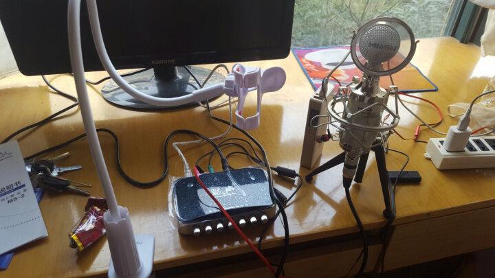 T6-2 外置声卡电容麦克风套装 快手抖音专用K歌主播麦克风话筒 手机电脑直播录音唱歌设备全套 灰色(赠送铝箱) 晒单图