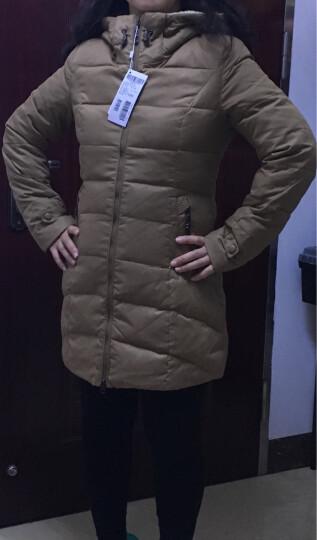 雪中飞羽绒衣服女中长款修身羊羔毛相拼连帽X1301116 12139(新朝阳红) 170/92A 晒单图