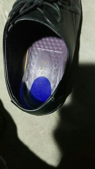 蔓睫足跟骨刺鞋垫医用硅胶后跟垫足底筋膜炎保健鞋垫脚跟垫跟骨垫实用增高垫 透明色蓝芯40-45码两双装 现货销售当天下单当天发货 晒单图