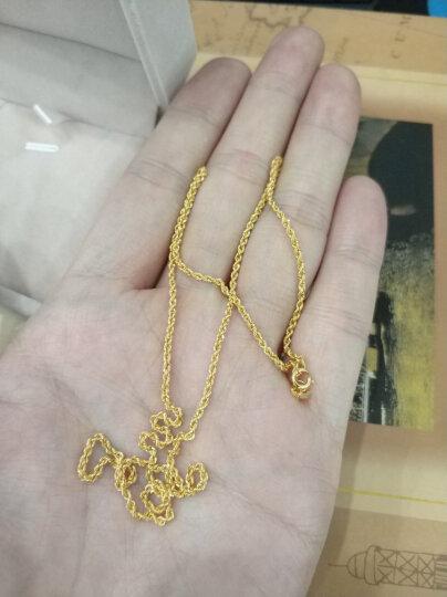 粗款18k金项链空心扭绳链意大利进口工艺 男女同款情侣项链 18k玫瑰金 45cm粗款约1.6MM粗 晒单图