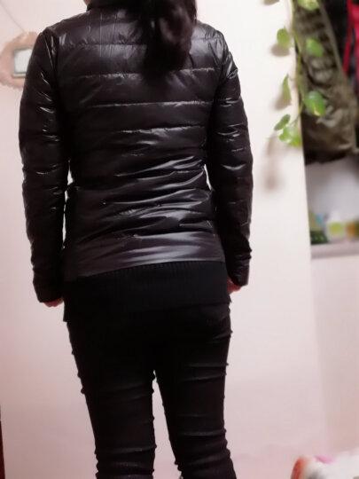 花芙妮短款羽绒服女轻薄2018秋冬装新款韩版修身显瘦薄款立领加肥加大码女装冬季外套女 粉蓝色 L 建议110斤-120斤、 晒单图