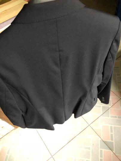 MAILYARD/美尔雅 女职业装西服套装韩版修身蓝色羊毛商务三件套裤工作西装 083 裙子0013083 13码(XL) 晒单图