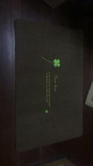 朗越 任意裁剪家用进门地毯走廊玄关过道宾馆办公室酒店开业客厅卧室楼梯防滑吸水地毯垫电梯阳台毯定制 加厚款暗红色 1.6米*5米 晒单图