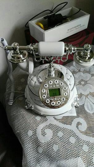 悦旗 仿古电话机欧式老式复古电话机时尚创意家用座机中式固定电话机家居装饰品卧室客厅书房座机古董摆件 白色 晒单图